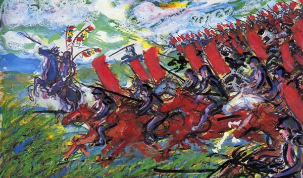 Detail from a Kagemusha drawing