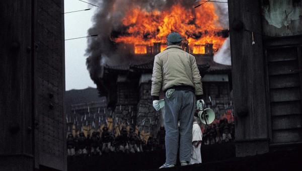 Kurosawa on the set of Ran