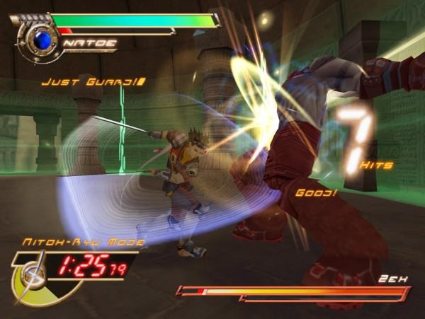 Seven Samurai 20XX - boss fight