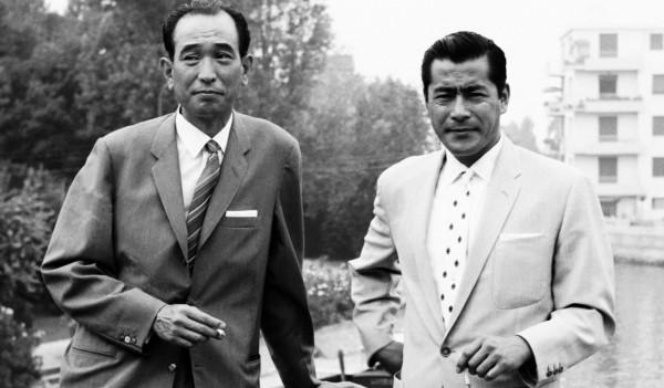 Akira Kurosawa and Toshiro Mifune in Venice in 1950
