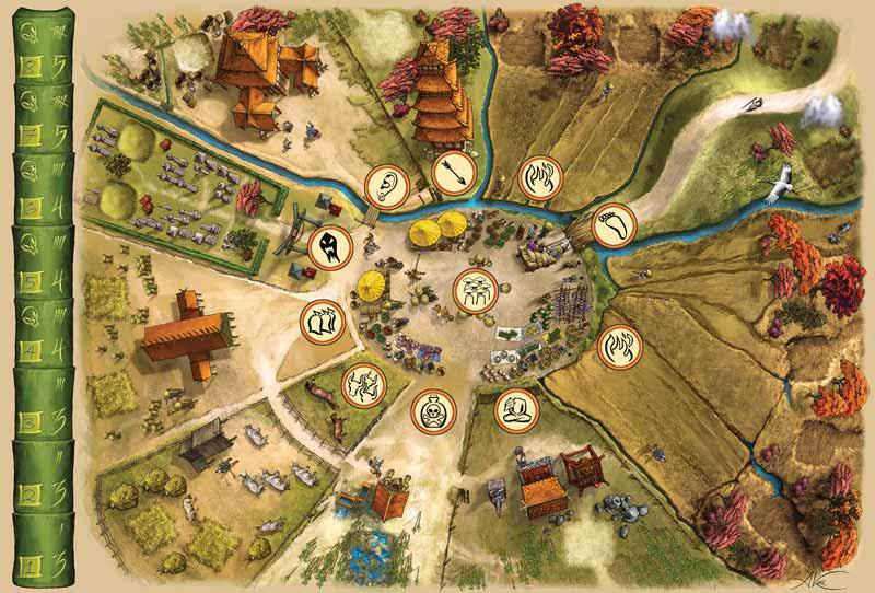 7 Ronin Game Board