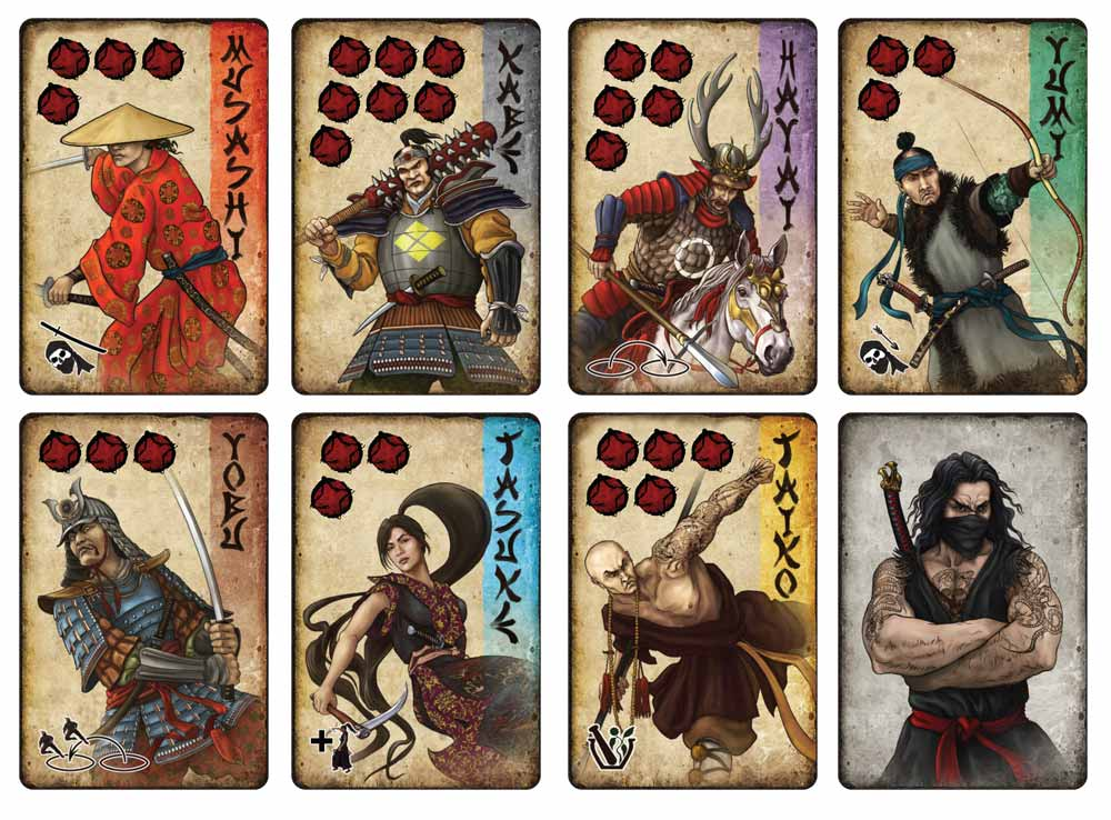 7 Ronin character cards